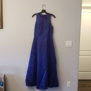 Purple satin formal dress